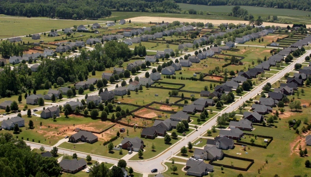 Georgia suburban neighborhood