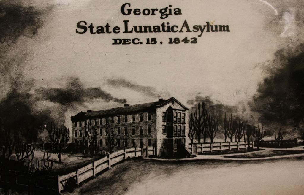Sketch of the first building at Central State Hospital.