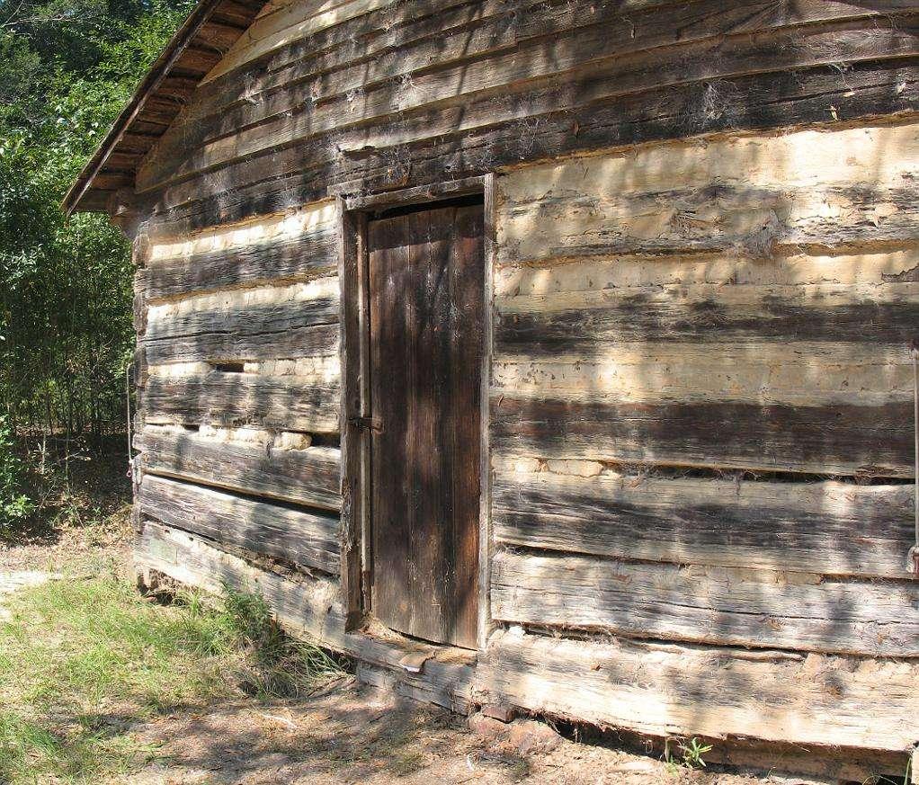Log Cabin Door from Tsali Ghost Story Cherokee North Carolina