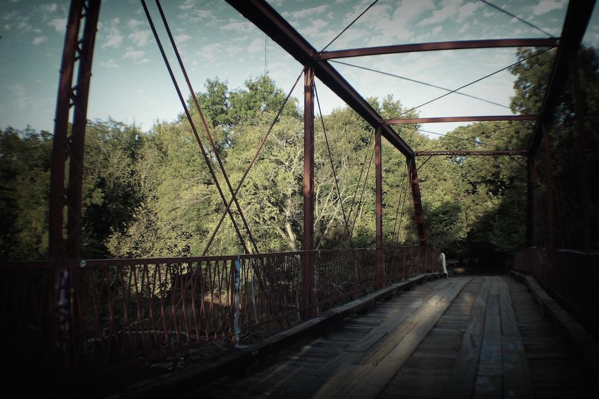 Old Alton Bridge, also known as Goatman's Bridge, between Denton and Copper Canyon Texas.